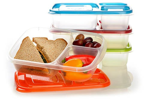 3-compartment lunch box containers -bento lunch box