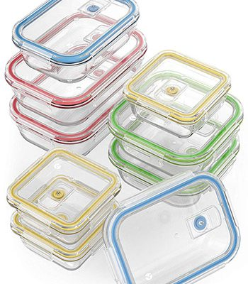small square plastic containers