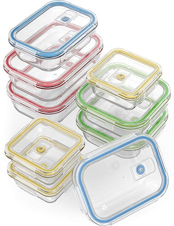 glass containers with lids for food