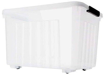 large plastic storage boxes with lids and wheels