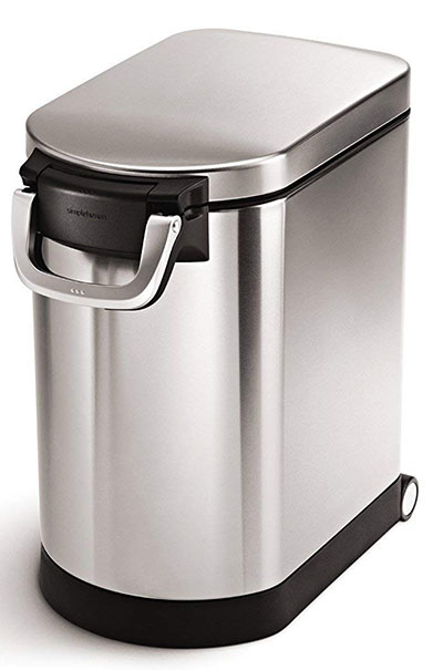 simplehuman pet food container medium can, Brushed Stainless Steel
