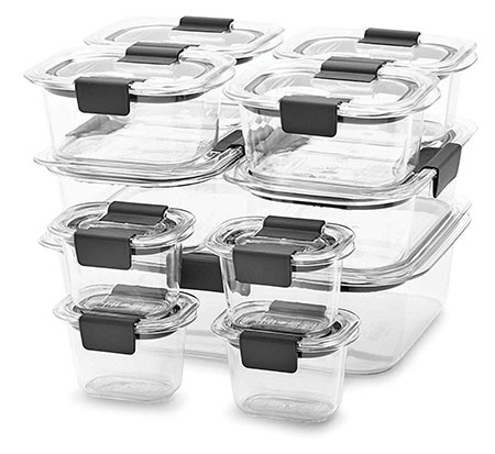 Rubbermaid brilliance 22 pieces