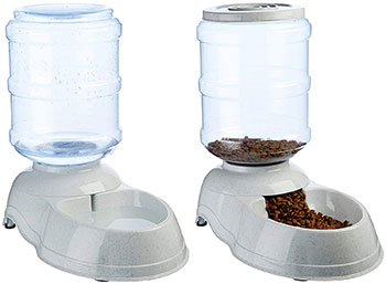 dog automatic feeders and gravity water bowl