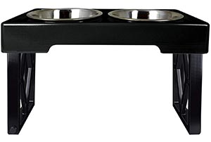 Adjustable raised dog bowls