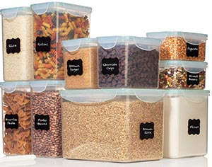 Large food storage containers airtight
