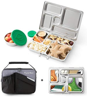 Large stainless steel containers with lids Lunch Box with 5 compartments