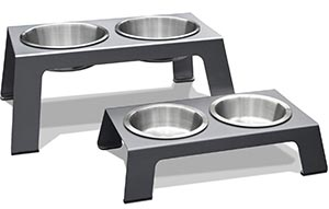 Modern elevated dog bowls