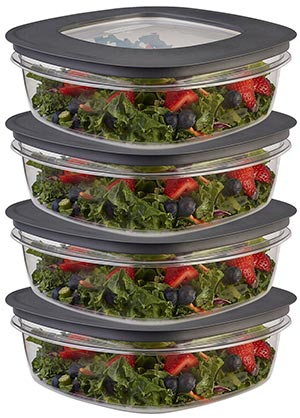 Rubbermaid brilliance salad Meal Prep container