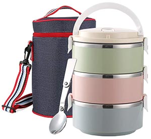 Stainless Steel food containers 100% Leak-proof Lunch Container with Insulated Lunch Bag