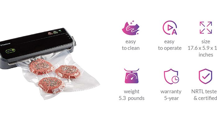 Vacuum Sealer Machine with Starter Bags & Rolls by Foodsaver